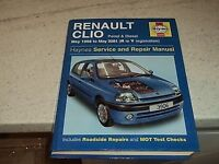 haynes service & repair manual for renault clio