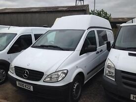 2010 10 REG MERCEDES VITO 111 CDI LONG WHEEL BASE EXTRA HIGH ROOF , YES EXTRA HIGH ROOF