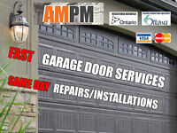 AmPm Ottawa Garage Door Services *Best Prices* Same Day