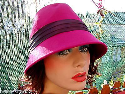 Damen Hut elegant Mode aus Italien Pink Lila Damenhüte Anlasshüte Damenmützen Elegante Mode Hut