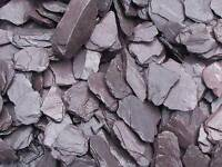 40mm plum slate chipping