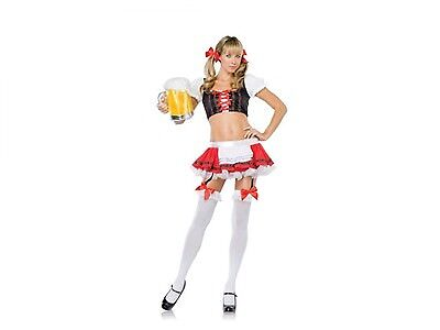 Leg Avenue Beer Girl Costume (Leg Avenue German Beer Girl Costume 53098 Red/Black)