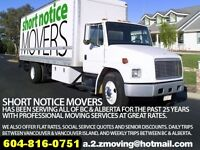 DAILY MOVING SERVICES BETWEEN VANCOUVER & KAMLOOPS BC