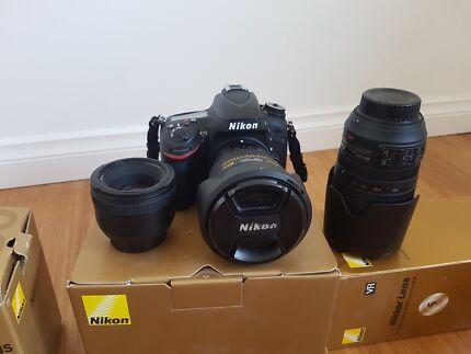 Nikon D610 DSLR and three lenses