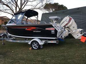 Boat aluminium stacer 539 bay master 2014 with evinrude 130hp Campbelltown Campbelltown Area Preview