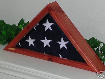 US AMERICAN AROMATIC CEDAR 3 X 5 FLAG DISPLAY CASE  (Us Flag Display Case)