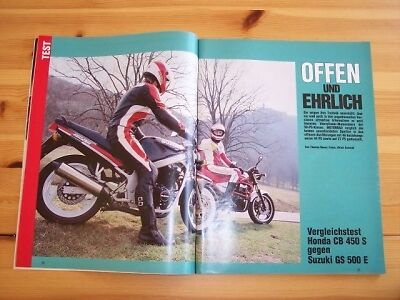 Motorrad 09/1989 Honda CB 450 S mit 44PS besser als...?