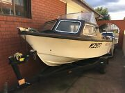 14ft half cab boat and trailer registered Coburg Moreland Area Preview