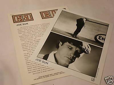Original Press Kit Joe Sun Bio Photo Elektra 1982