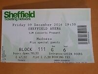 madness concert tickets x 3 sheffield arena