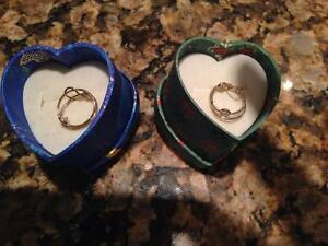 GOLD EARINGS CHILDRENS-NEW IN BOX