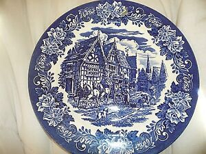 CHARLES DICKENS COLLECTORS PLATE IN BLUE AND WHITE (2 available)