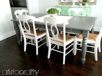 ***Pretty Gray Dining Table***