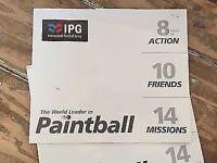Paintballing ticketsx10