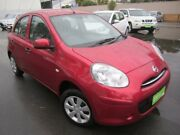 2014 Nissan Micra K13 Series 4 MY15 ST Red 5 Speed Manual Hatchback St Marys Mitcham Area Preview
