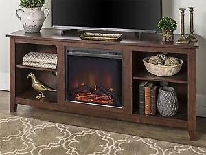 Walker Edison Essential 58 Fireplace TV Console NEW ** 5 CORNERS FURNITURE **