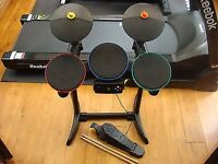 Xbox 360 Guitar Hero Band Hero Drum Kit Plus Drum Sticks