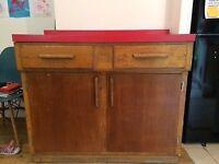 Retro vintage 1960's free standing kitchen cabinet
