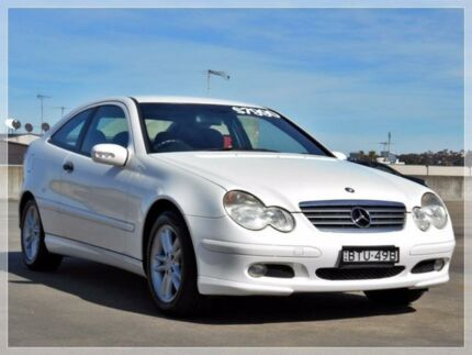2001 Mercedes-Benz C200 Kompressor CL203 White Sports Automatic Coupe