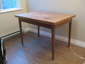 TEAK TABLE- SOLID WOOD EXPANDABLE 7