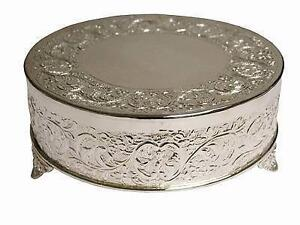 Silver Base Cake Stand