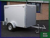 6x4x4 SINGLE WHEEL BOX VAN INDESPENSION BOX TRAILER ANYONE CAN TOW THIS TRAILER