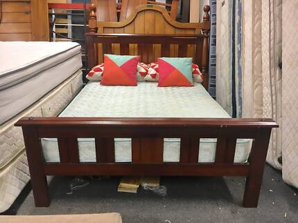 DELIVERY TODAY Double bed & mattress STRONG SOLID WOODEN FRAME