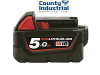 Milwaukee M18B5 M18 5.0Ah Red Lithium-ion Battery