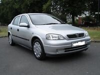 2003 Vauxhall Astra 1.4, Very Low mileage, Full Mot-No Advisories, F/S/H, Cheap To Run, Warranty