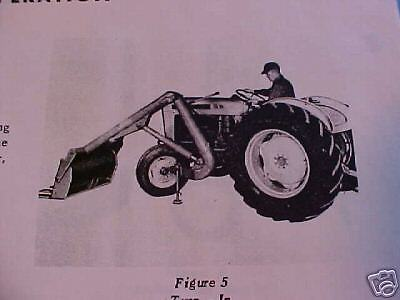 Ford Tractor 8019014000 Front Loader Single-arm Model 711722-operators Manual