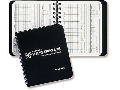 POCKET FLIGHT CREW LOG BOOK | ASA-SP-FC |  For Pro Pilots, F/A & Instructors