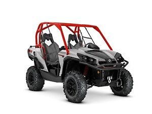 2018 Can-Am Commander XT 800R Brushed Aluminum  Can-Am Red
