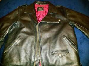 Black STAGG leather jacket vintage Brando style Frankston North Frankston Area Preview