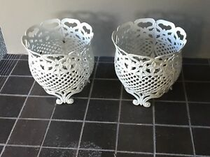 Decorative iron plant pot holders Fishing Point Lake Macquarie Area Preview