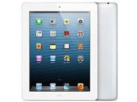 Apple ipad 4 silver 16gb and 4g in good condition