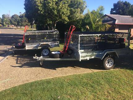 Box Trailer Hire heavy duty galvanised with cage and extras