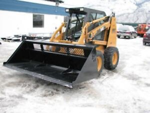 BOBCAT AND SKID STEER HIGH CAPACITY SNOW & MULCH BUCKET NO PST!