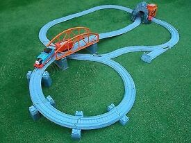 Thomas train and blue mountain quarry trackmaster with additional Spencer and Splatter trains