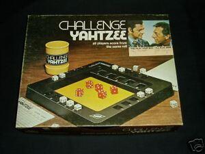 CHALLENGE YAHTZEE LOWE 1974 COMPLETE!