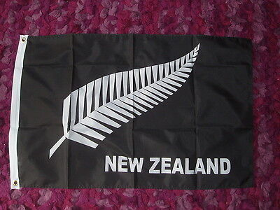 NZ Fern Flag 2x3 New Zealand All Blacks Rugby Kiwis World Cup Winners 2011 bnip