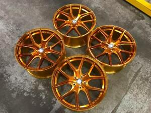 "19"" Polished Gold Staggered Wheels 5x112 (Mercedes Cars) BLOWOUT SALE Calgary Alberta Preview"