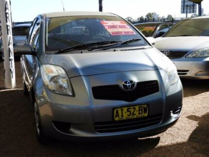 2006 Toyota Yaris NCP90R YR Silver 5 Speed Manual Hatchback