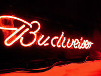 Budweiser neon sign, just in