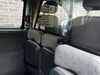 Taxi partition with seats and seat belts