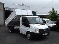 Ford Transit 2.2TDCi tipper 12 reg 6 speed t350 only 1 owner from new 100 bhp