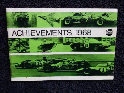 Achievements 1968, Castrol booklet