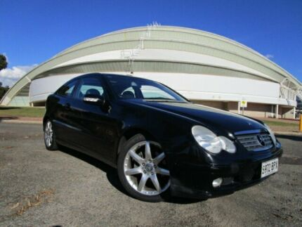 2002 Mercedes-Benz C200 CL203 Kompressor Obsidian Black Metallic 5 Speed Auto Tipshift Coupe Gepps Cross Port Adelaide Area Preview