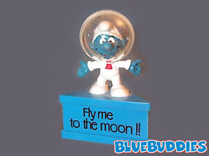 """RARE Astro Smurfagram  """"Fly me to the moon!!""""  Red Square Tie"""