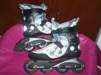 womens 8 inline skates roller blades K2 exotech Syncro 78mm