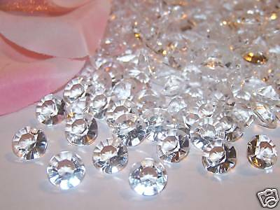 8mm 2CT Acrylic DIAMONDS Diamond Confetti Wedding Party Table Decorations 800pcs](Diamond Confetti)